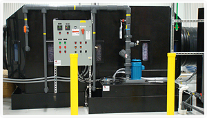 Acid Fume Scrubber Control panel and circulating pump