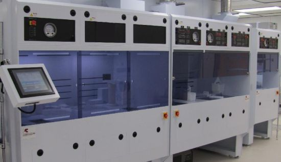 KOH Semi-Automated Wafer Etching Line